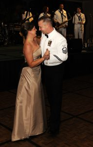 101016-N-7498L-198.HONOLULU (Oct 16, 2010) ?? Chief Operations Specialist (SW) Joshua Pearsall and his partner take the dance floor during the 235th Navy Birthday Ball. Sailors and guests from throughout Hawaii celebrated the Navy??s Birthday at the Hilton Hawaiian Village. (U.S. Navy photo by Mass Communication Specialist 2nd Class (SW) Mark Logico/RELEASED).